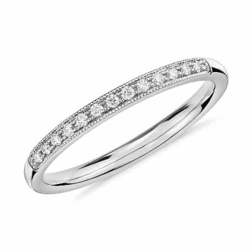 Pave Petite Diamond Ring 14K White Gold