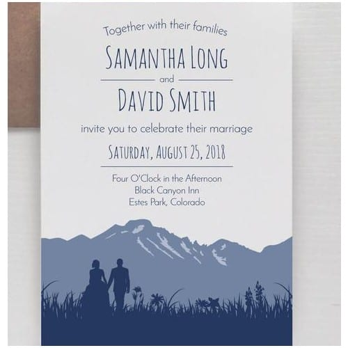 Monochromatic Mountain Invitation
