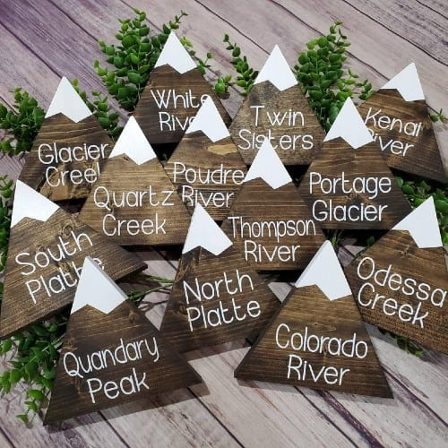 Mountain table markers