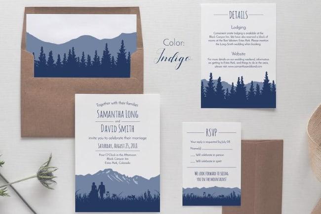 mountain wedding inviation suite