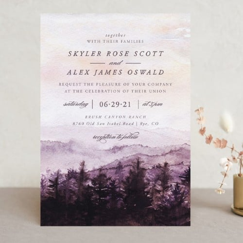 Mountain Wedding Invite - Petite