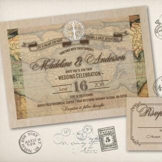 old fashioned wedding invite