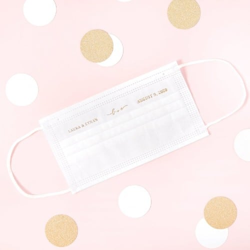 personalized monogrammed face mask