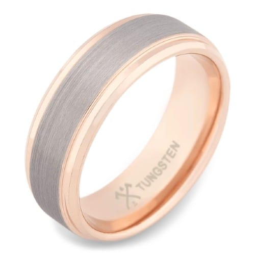The Gentleman - 18K Rose Gold Plated Tungsten Wedding Ring