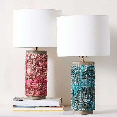 rug pattern table lamp