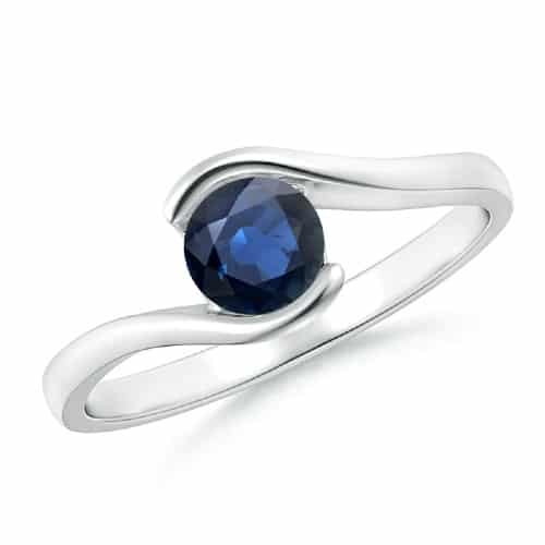 Deep Blue Sapphire Solitaire Ring