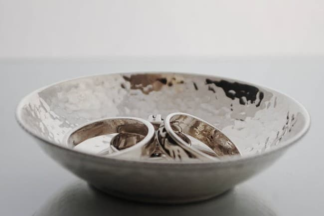 Sterling Silver Hammered Dish