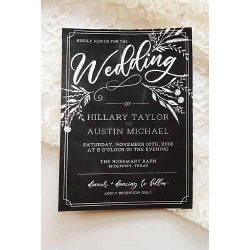 Southern Charm Chalkboard Wedding Invitation