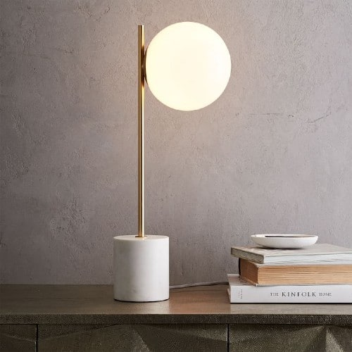 sphere and stem table lamp