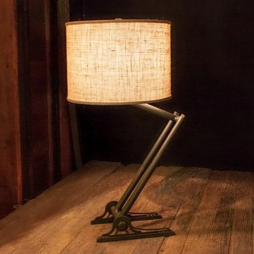 trestle iron table lamp