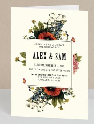 vintage garden wedding invite