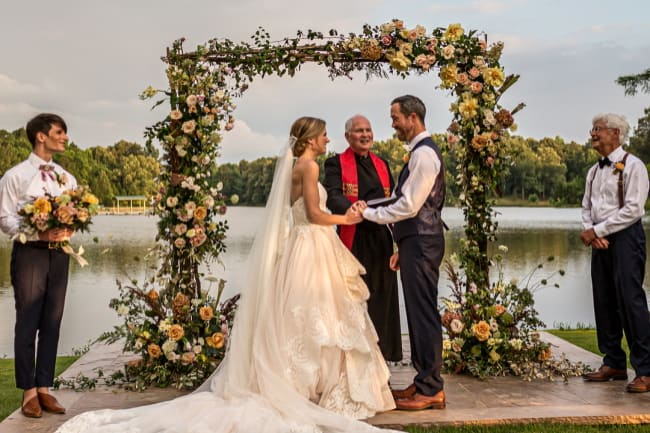 Elegant Lakeside Wedding Featured