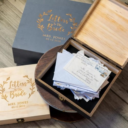 """""""Letters To The Bride"""" Bridal Box"""