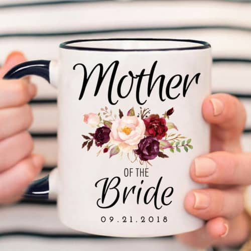 mother of the bride personalized mug