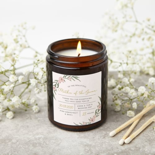 mother of the groom apothecary candle