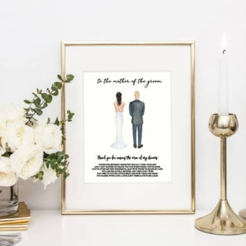 mother of the groom print