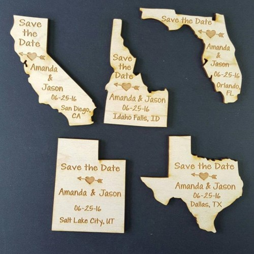 state engraved save the date magnets