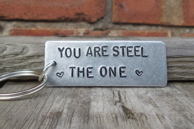 You are Steel the One keychain