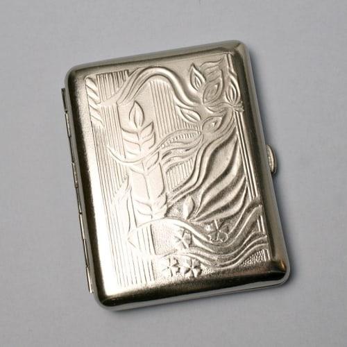 vintage cigarette case as business card holder