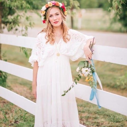 Bohemian Inspired Lace Maxi Dress