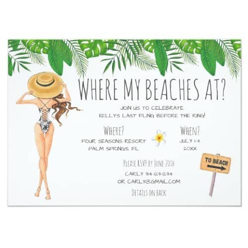 """Where My Beaches At?"" invite"