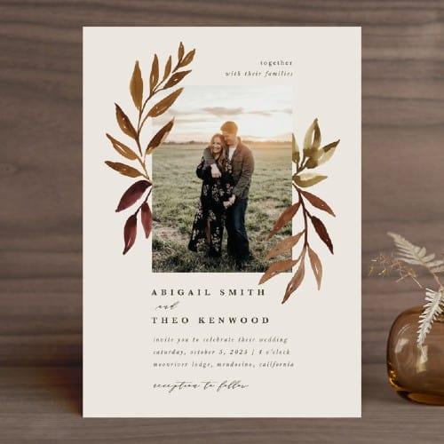 Botanical Portrait Invitations