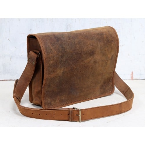 Buffalo Leather Messenger Bag15 Inch