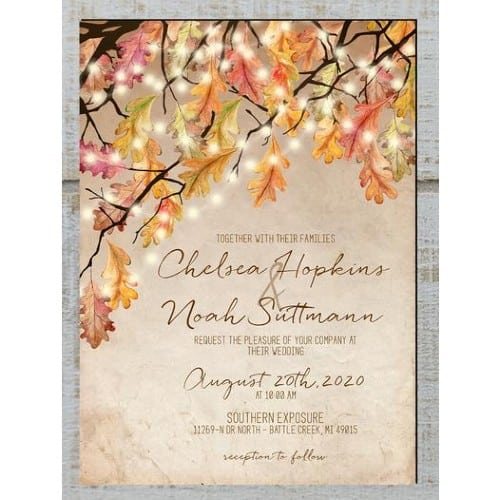 Romantic Rustic Oak Tree Invitations