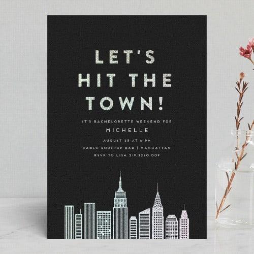 Cosmopolitan Foil-Pressed Invite