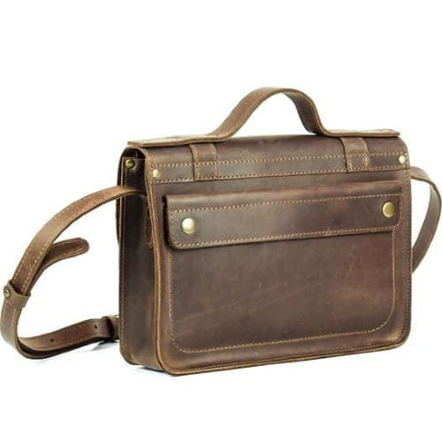 Leather Cross-Body Messenger Bag/Briefcase