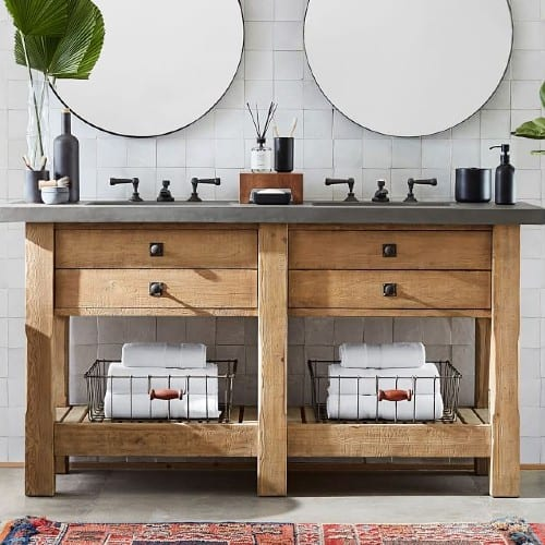 9 Rustic Farmhouse Bathroom Vanity Ideas To Add Country Charm