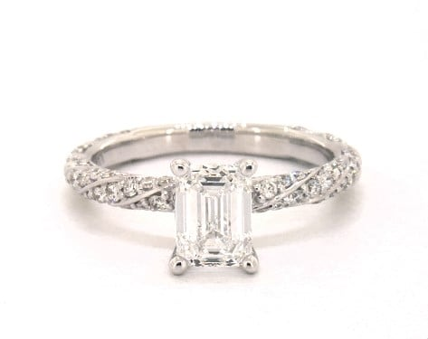 Emerald Cut Pavé Engagement Ring from James Allen