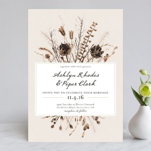Gone to Seed Bouquet Invitations