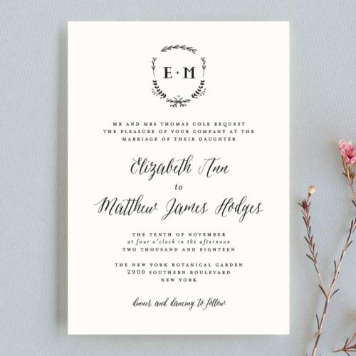 Always Petite Wedding Invitation