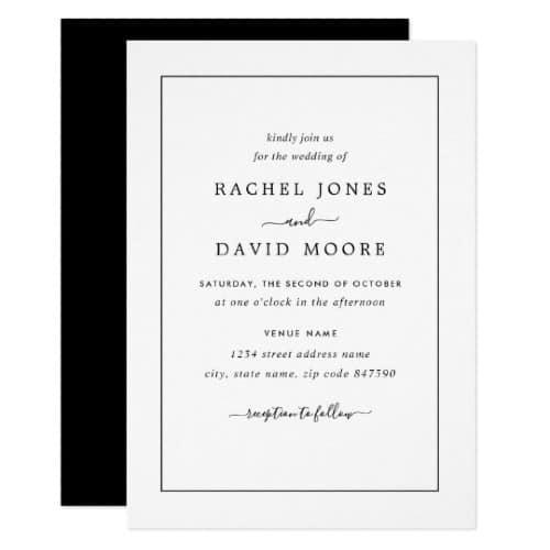 Modern Black and White Invitation