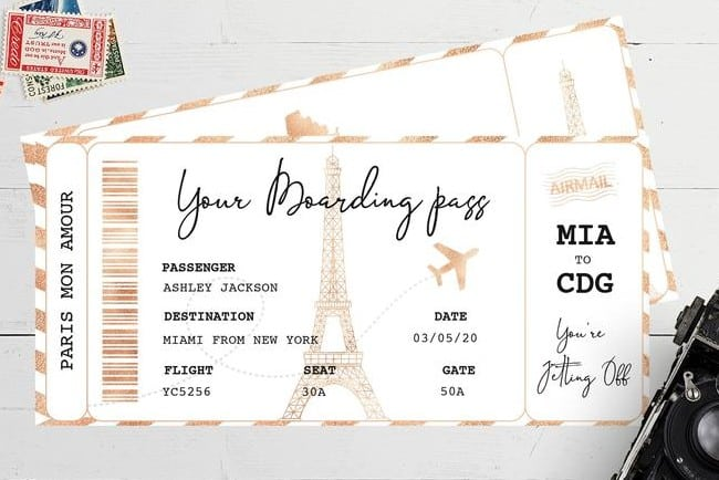 Pass to Paris Invitation Template