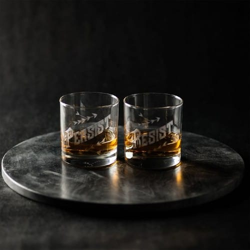 Love and Victory Resist & Persist Glass Set
