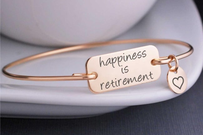 retirement gift for women bracelet