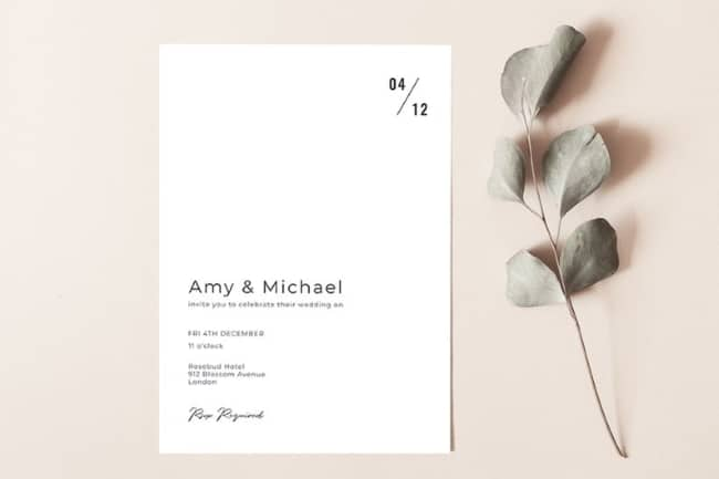 simpe wedding invitation