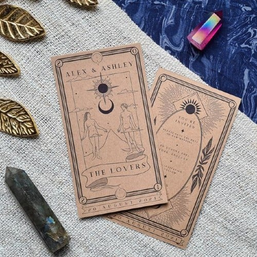 The Lovers Tarot Card Save-the-Date