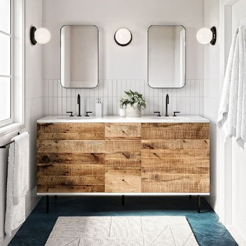 9 Rustic Farmhouse Bathroom Vanity Ideas To Add Country Charm