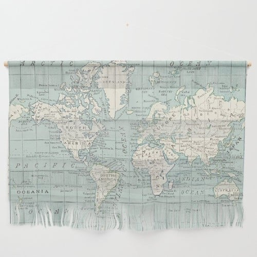 16 World Map Art Ideas To Inspire Your Inner Nomad