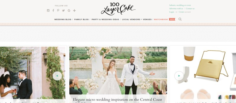 100 layer cake home page