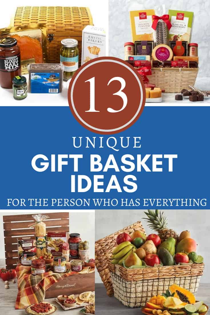 Pinterst Pin - Unique Gift Basket Ideas