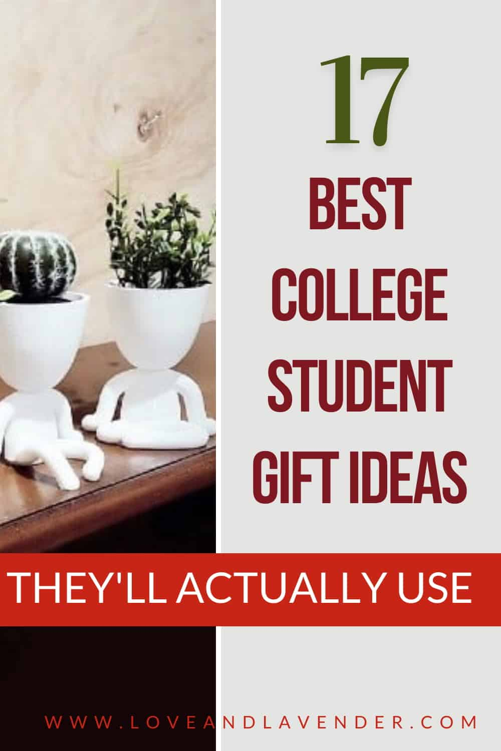 Pinterest Pin - College Student Gift Ideas