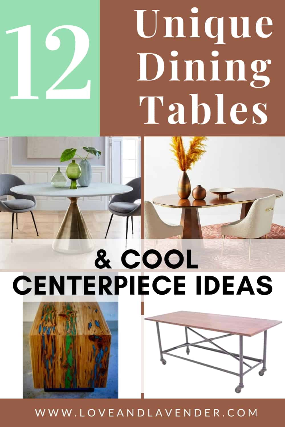 12 Unique Dining Tables Cool Centerpiece Ideas You Ve Got To See