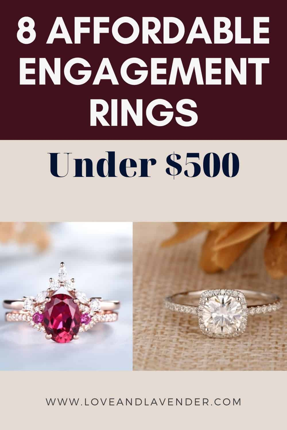 Pinterest Pin - Affordable Engagement Rings