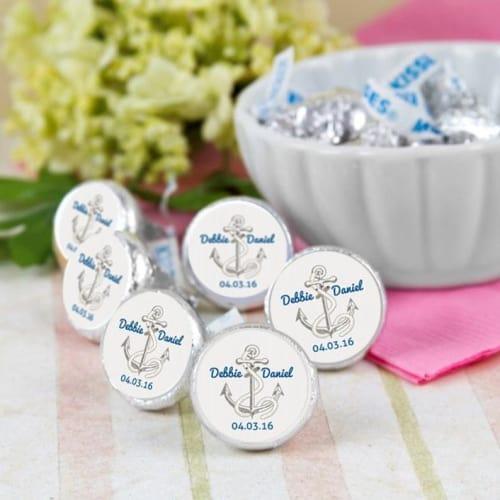 Nautical Hershey Kiss Stickers