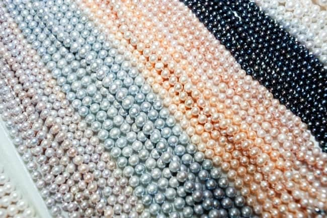 Colored Pearl Strands