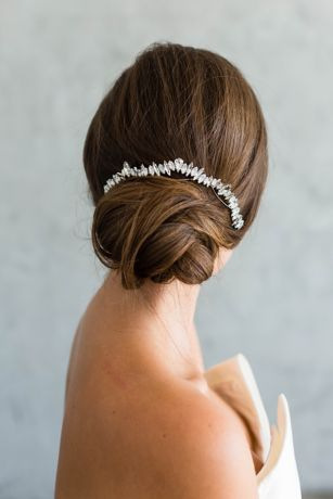 Scattered Crystal Halo Bridal Hair Comb